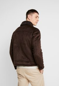 New Look - SHEARLING AVIATOR - Faux leather jacket - brown - 2