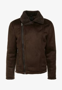 New Look - SHEARLING AVIATOR - Faux leather jacket - brown - 4