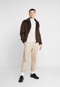 New Look - SHEARLING AVIATOR - Faux leather jacket - brown - 1