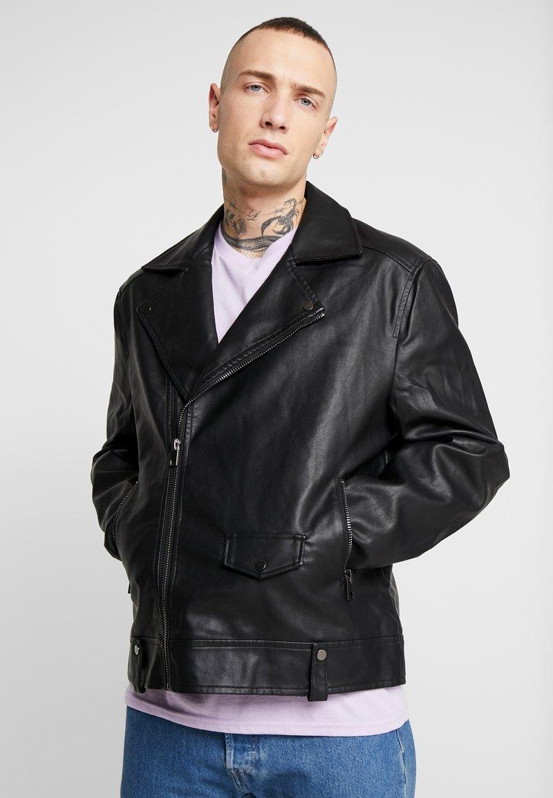 New Look - BIKER - Bunda zumělé kůže - black