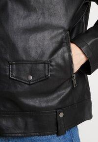 New Look - BIKER - Bunda zumělé kůže - black - 3