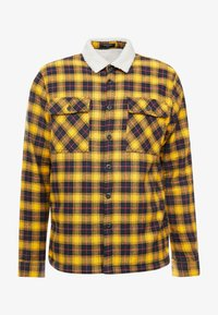 New Look - BORG LINED CHECK SHACKET - Lett jakke - yellow - 3