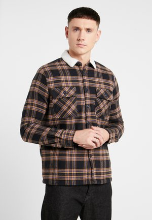 BORG LINED CHECK SHACKET - Allvädersjacka - black