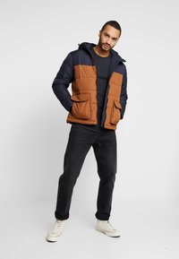 New Look - COLOUR BLOCK PUFFER - Winter jacket - navy - 1