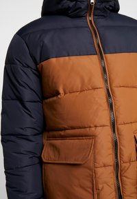 New Look - COLOUR BLOCK PUFFER - Winter jacket - navy - 5