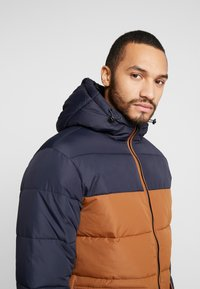 New Look - COLOUR BLOCK PUFFER - Winter jacket - navy - 3