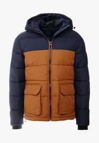 New Look - COLOUR BLOCK PUFFER - Winter jacket - navy - 4