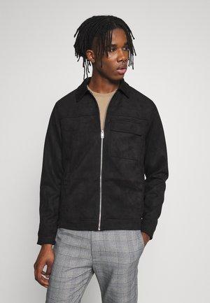 UTLITY - Faux leather jacket - black