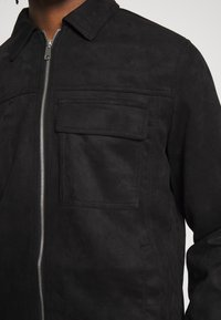 New Look - UTLITY - Faux leather jacket - black - 5