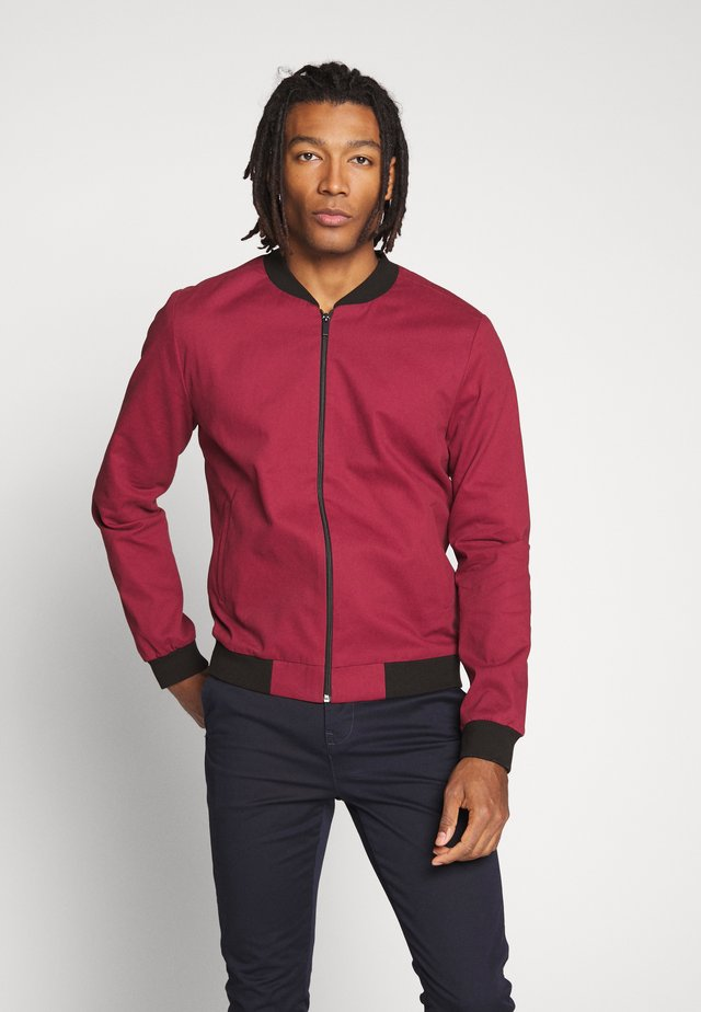 ENTRY - Bomber Jacket - dark burgundy
