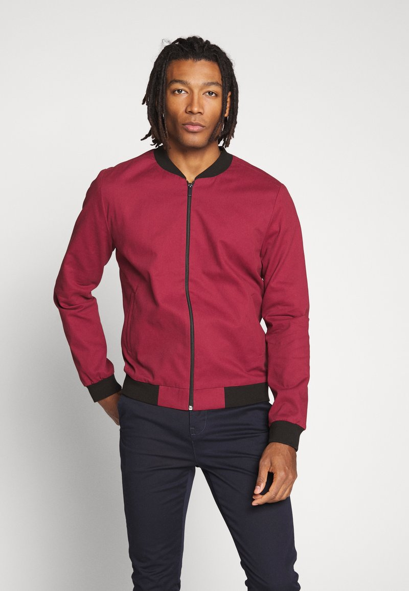 New Look - ENTRY - Chaquetas bomber - dark burgundy