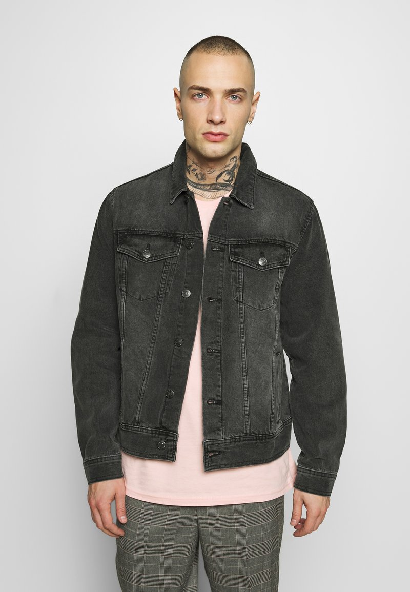New Look - JACKET - Denim jacket - mid grey
