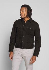 New Look - WESTERN - Denim jacket - black - 0