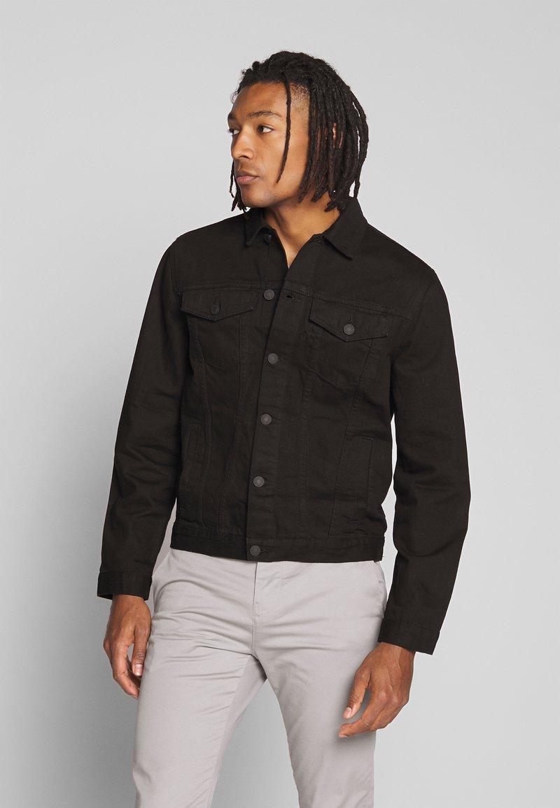 New Look - WESTERN - Kurtka jeansowa - black