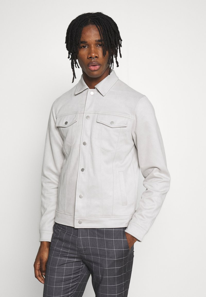 New Look - SUEDETTE TRUCKER - Summer jacket - light grey