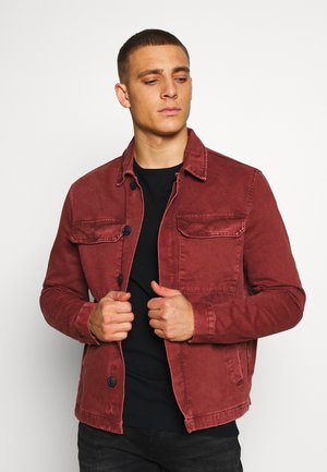 UTLITY  - Denim jacket - dark burgundy