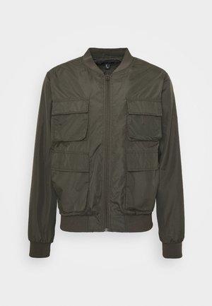 HAIDEN UTILITY  - Summer jacket - dark khaki