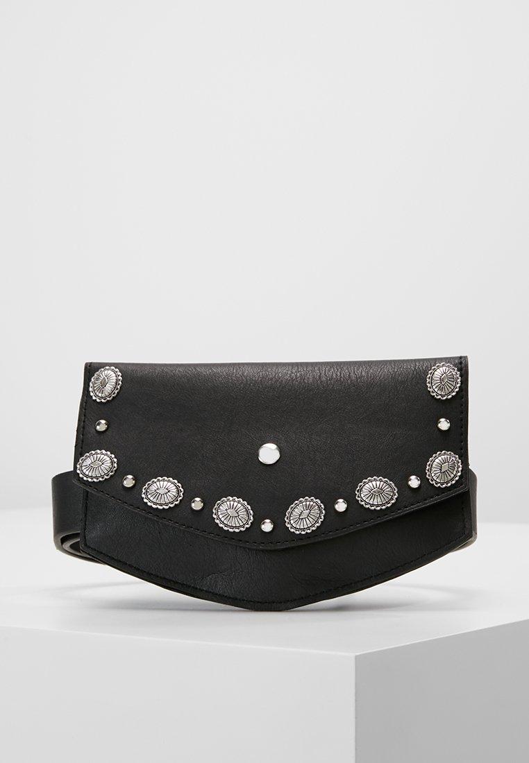 New Look - FLAT ENVELOPE WESTERN PURSE BELT - Pásek - black