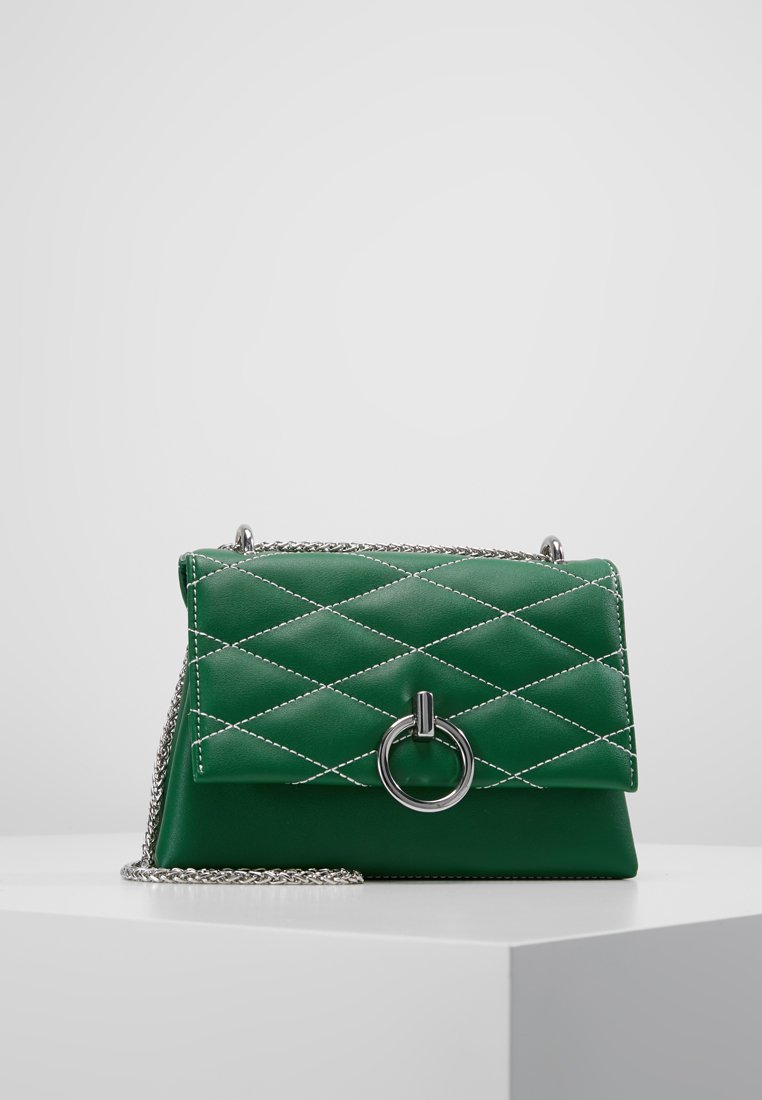 New Look - CARLA CONTRAST STITCH QUILTED - Handbag - mid green
