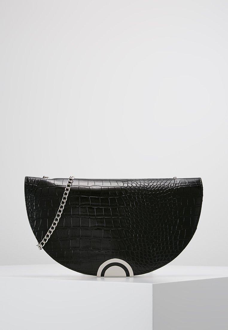 New Look - HAYLEY HALF MOON CLUTCH - Clutch - black