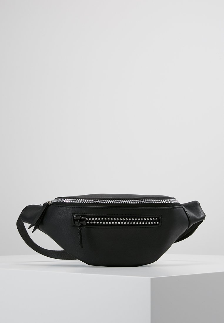 New Look - DITA DIAMANTE ZIP DETAIL BUMBAG - Heuptas - black