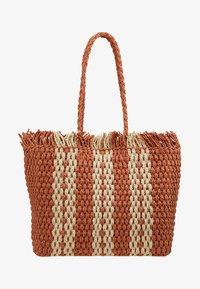 New Look - CUBA STRIPEY TOTE - Shopping bag - orange - 5