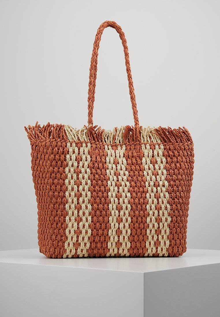 New Look - CUBA STRIPEY TOTE - Shopping bag - orange