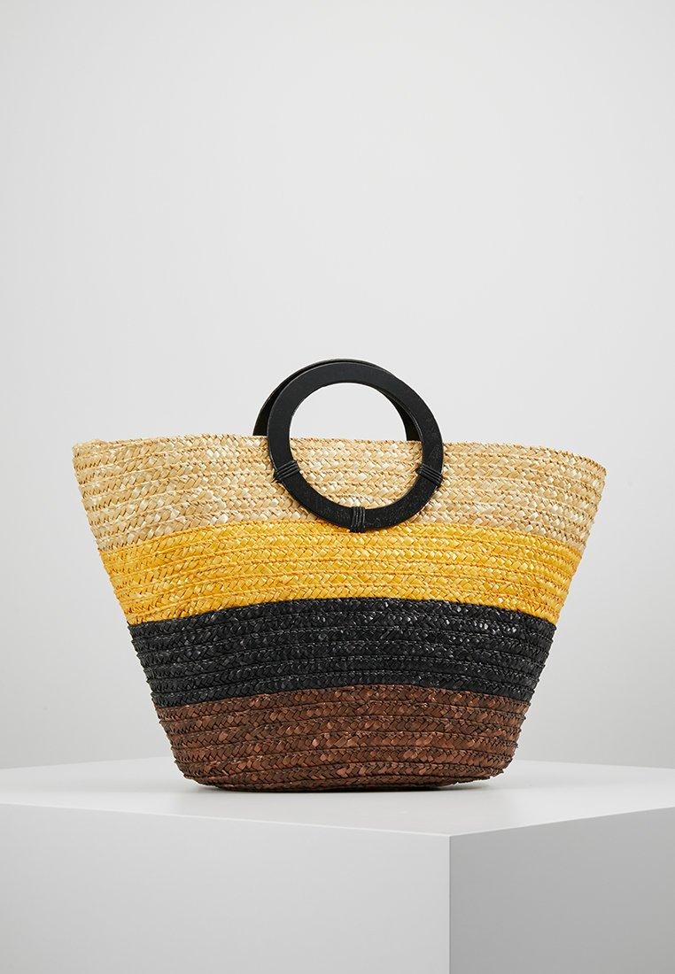 New Look - MALTA STRIPE TOTE - Handbag - brown