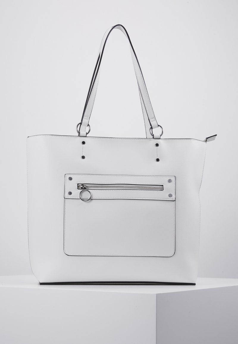 New Look - TORI UNLINED TOTE - Cabas - white