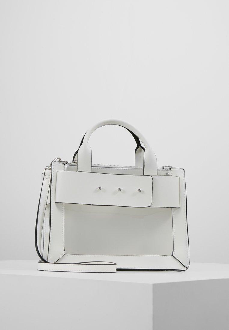 New Look - ARIEL TRANSPARENT XBODY - Bolso de mano - white