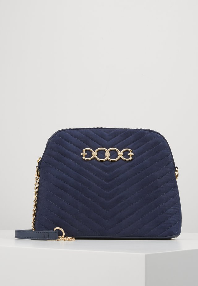 KAYLA QUILTED KETTLE BODY - Across body bag - navy