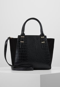 New Look - MARLEY CROC - Torebka - black - 0