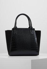 New Look - MARLEY CROC - Torebka - black - 2