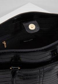 New Look - CAMDEN CROC TOTE - Handbag - black - 4