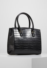 New Look - CAMDEN CROC TOTE - Handbag - black - 3