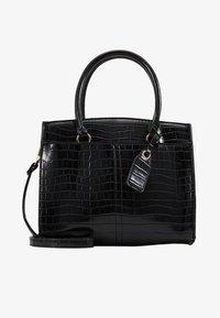 New Look - CAMDEN CROC TOTE - Handbag - black - 1