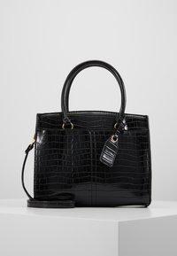 New Look - CAMDEN CROC TOTE - Handbag - black - 0