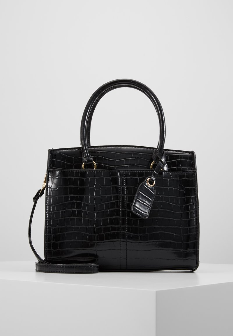 New Look - CAMDEN CROC TOTE - Handbag - black