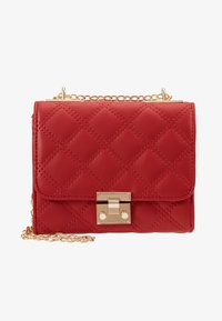New Look - MARGO QUILTED CHAIN SHOULDER - Axelremsväska - bright red - 5