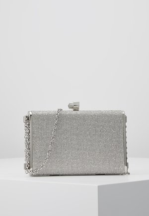 DIANA - DIAMONTE BOX CLUTCH - Kuvertväska - silver