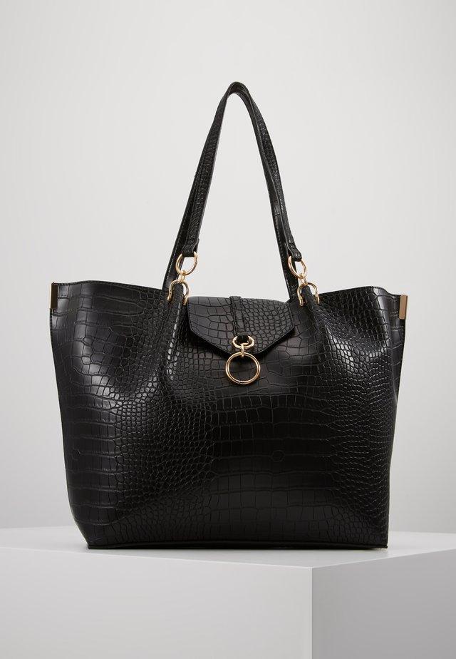 RHONDA RING DETAIL  TOTE - Shopping bag - black