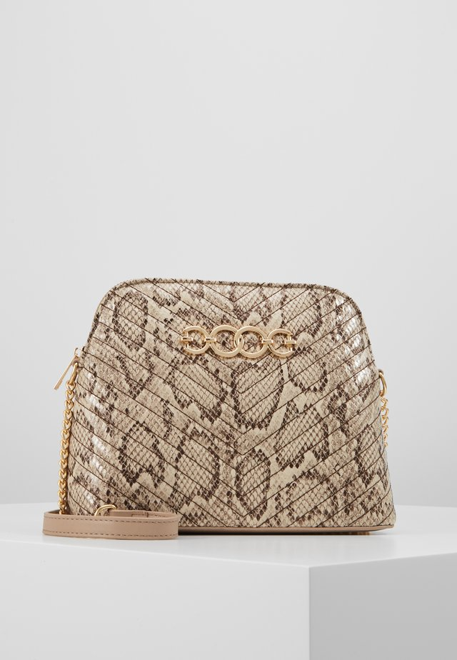 KAYLA SNAKE KETTLE - Across body bag - brown