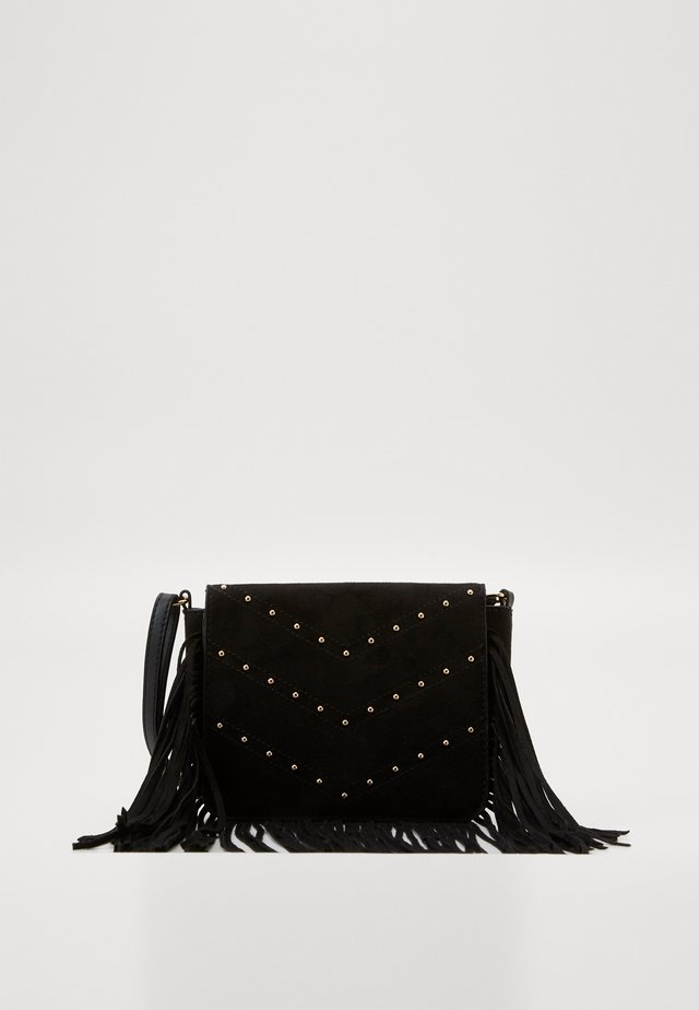 FABLE FRINGED STUD X BODY - Sac bandoulière - black