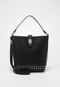 New Look - SAFFY STUDDED BUCKET - Kabelka - black - 0