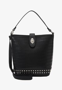 New Look - SAFFY STUDDED BUCKET - Kabelka - black - 4