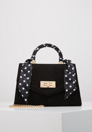 RIA SCARF TOP HANDLE - Handtasche - black