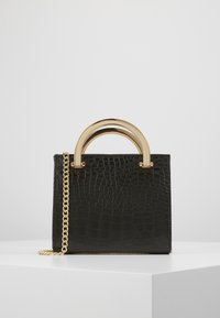 New Look - KATYA CROC METAL HANDLE - Clutch - black - 0