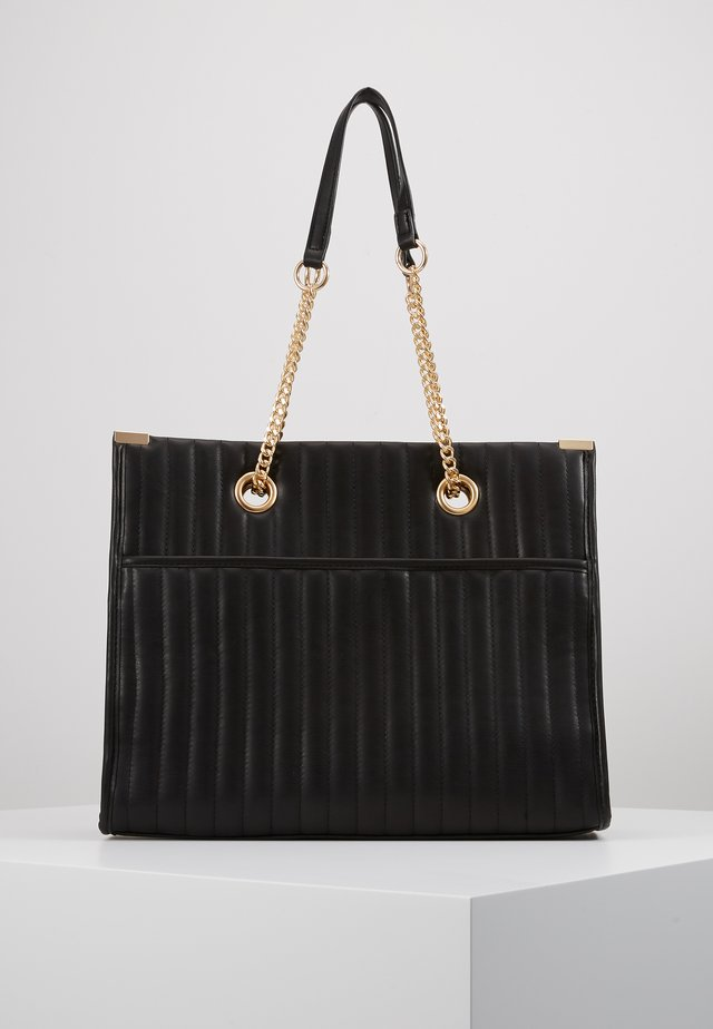 HUGO QUILTED TOTE - Shopping bag - black