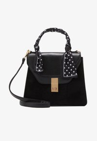 New Look - SADIE SCARF DETAIL CHAIN SATCHEL - Kabelka - black - 1