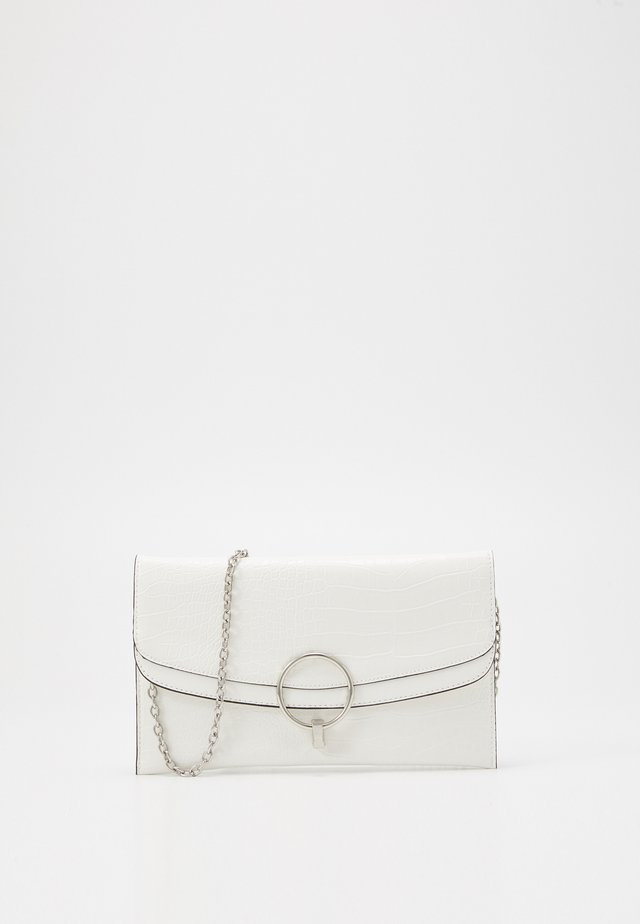 REESE SNAKE RING DETAIL - Clutch - white